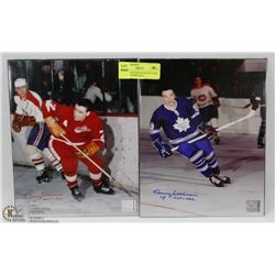 MAPLE LEAFS & RED WINGS NORM ULLMAN SIGNED 8X10