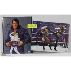 WWE/WWF TRISH STRATUS AND HONKY TONK MAN SIGNED