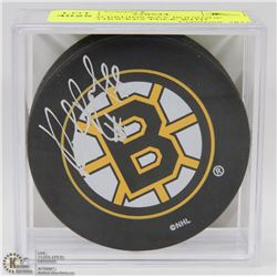 BOSTON BRUINS RAY BOURQUE SIGNED HOCKEY PUCK WITH