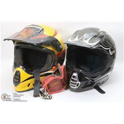 2  ATV/MOTORCROSS  HELMETS INCL XZONE SIZE L