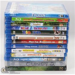 BUNDLE OF 13 BLU-RAY DVDS INCL. FROZEN,