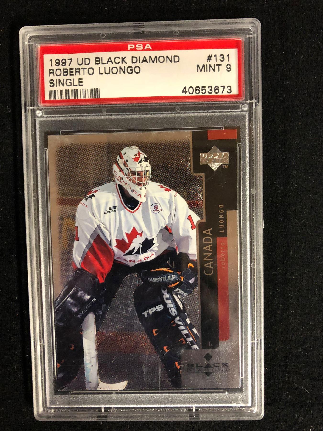 1997 Ud Black Diamond Roberto Luongo Single 131 Mint 9 Psa Graded
