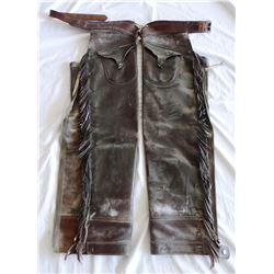 Heiser shotgun chaps w/pockets, marked on belt