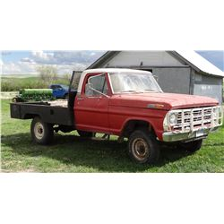 1969 Ford F-250, 300-6 engine, 4-spd., 4x4, Ford grill guard, Pick & Roll bale bed, less than 4000 m