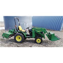 1998 JD 4100 tractor w/ JD 410 loader, Yanmar 3 cyl. diesel, 20 hp., 4WD, hydrostatic, ROPS, 3 pt.,