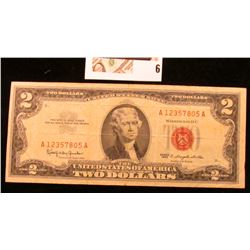 Series 1963 'Red Seal' $2 United States Note.