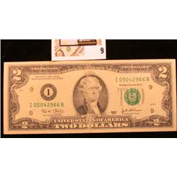 Series 2003 Uncirculated Two Dollar Federal Reserve Note.