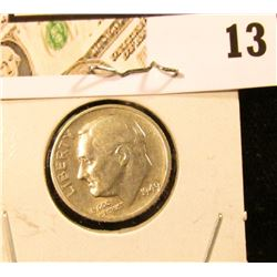 1949 S Roosevelt Dime, Key date, circulated.