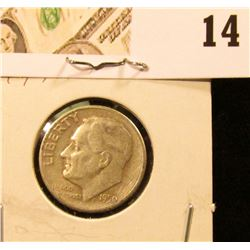 1950 S Roosevelt Dime, Key date, circulated.