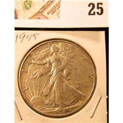 1945 P Walking Liberty Half Dollar.