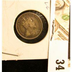 1910 VG Canada Five-Cent Silver.
