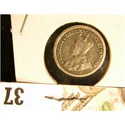 1917 Canada Five-Cent Silver.