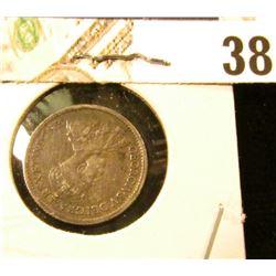1918 Fine Canada Five-Cent Silver.