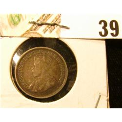 1919 VG Canada Five-Cent Silver.