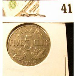 1930 Fine Canada Nickel.