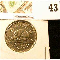 1949 EF Canada Nickel.