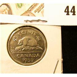 1955 AU Canada Nickel.