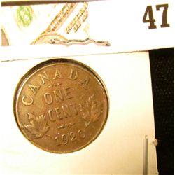 1920 VF Canada Small Cent.