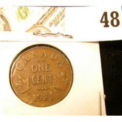 1921 VF Canada Small Cent.