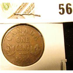 1929 Canada small Cent, Fine.