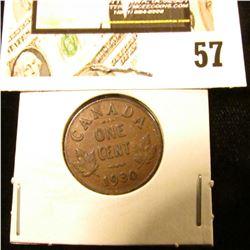 1930 Canada small Cent, VF.