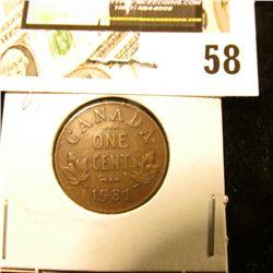1931 Canada small Cent, VF.