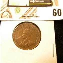1933 Canada small Cent, AU.