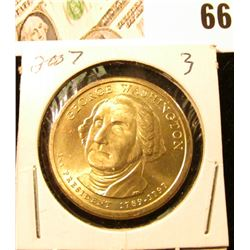 2007 Gem Uncirculated George Washington Presidential Dollar Coin.