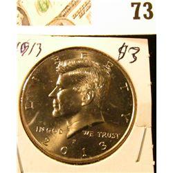 2013 P Kennedy Half Dollar, Gem Unc.