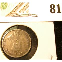 1911 Canada Five Cent Silver, we will leave the grading up to you. Call it circulated.