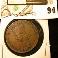 1920 Canada Large Cent, VG-Fine.