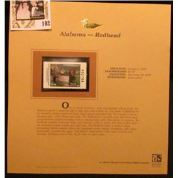 1999 Alabama-Redhead Waterfowl $5 Stamp. Mint Condition with literature, unsigned.