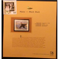 1999 Maine-Black Duck Waterfowl $2.50 Stamp. Mint Condition with literature, unsigned.