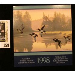1998 Canadian Wildlife Habitat Conservation $8.50 Stamp in original mint holder.