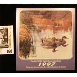 1997 Canadian Wildlife Habitat Conservation $8.50 Stamp in original mint holder.