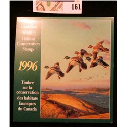 1996 Canadian Wildlife Habitat Conservation $8.50 Stamp in original mint holder.