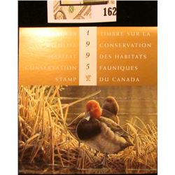 1995 Canadian Wildlife Habitat Conservation $8.50 Stamp in original mint holder.