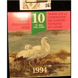 1994 Canadian Wildlife Habitat Conservation $8.50 Stamp in original mint holder.