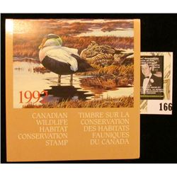 1992 Canadian Wildlife Habitat Conservation $8.50 Stamp in original mint holder.