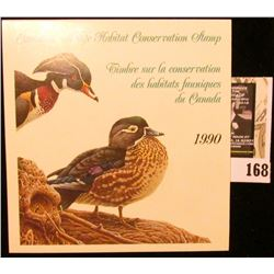 1990 Canadian Wildlife Habitat Conservation $7.50 Stamp in original mint holder.
