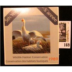1989 Canadian Wildlife Habitat Conservation $7.50 Stamp in original mint holder.