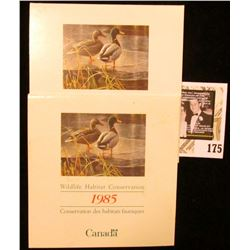 (2) 1985 Canadian Wildlife Habitat Conservation $4.00 Stamps in original mint holder.