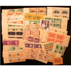 """Progress in Electronics"" cancelled stamp; and a large group of Mint pairs & Plate blocks of U.S. St"