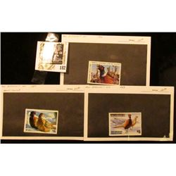 1983, 84, & 87 $5 Minnesota Department of Natural Resources Pheasant Habitat Stamps. All mint, unsig