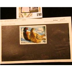 1987 Minnesota Department of Natural Resources $5 Pheasant Habitat Stamp. Artist signed.