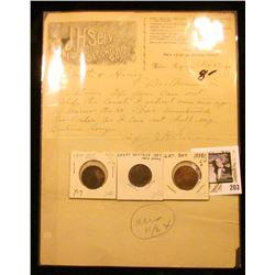 "Nov. 23, 1897 Letter on Letterhead ""J.H. Servis Dealer in New & Second-Hand Goods…Webster City, Iowa"