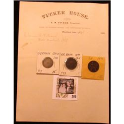 "1880 Letter on letterhead ""Tucker House E.M. Tucker, Proprietor Close to Business Houses and Conveni"