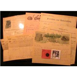 "1906 Invoice ""Hall Grain Grader Company Manufacturers…"", Winfield, Ia.; 1906 Clinton, Ia. Invoice ""C"