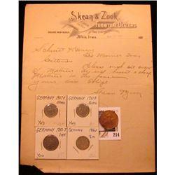 "1897 ""Skean & Zook Furniture Dealers and Funeral Directors Skena's New Block, Albia, Iowa""; 1912 Fra"