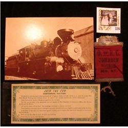 "(Waterloo, Iowa Railroad Union) Badge ""O. of R.C. Johnson Division. No. 67"" Medal with hangar and ba"